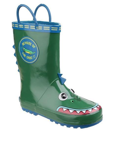 cotswold-boys-crocodile-wellington-boots
