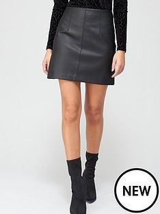 v-by-very-pu-a-line-skirt-blacknbsp
