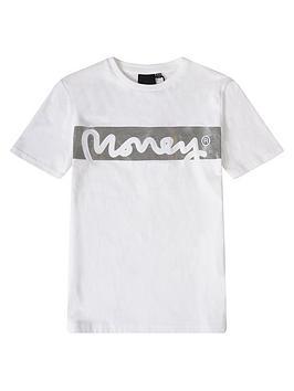money-boys-block-signature-short-sleeve-t-shirt-white