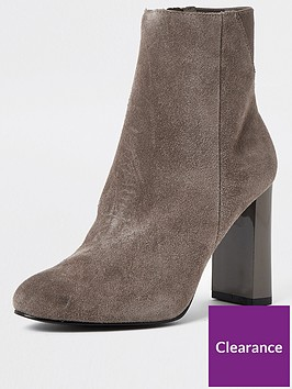 river-island-suede-smart-ankle-boot-grey