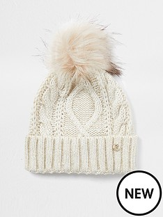 river-island-cable-knit-turn-up-beanie-beige