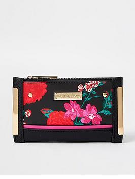 river-island-floral-mini-foldout-purse-black