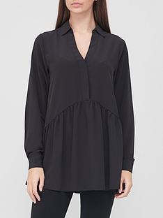 v-by-very-collar-button-through-tunic-black