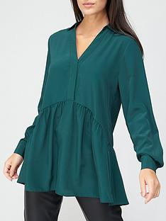 v-by-very-collar-button-through-tunic-green