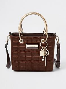 river-island-quilted-small-boxy-bag-chocolate