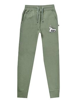 money-boys-chrome-ape-joggers-green