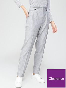 v-by-very-paperbag-tapered-leg-trouser-greynbsp