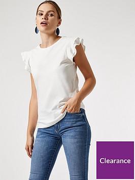 dorothy-perkins-dobby-frill-sleeve-t-shirt-white