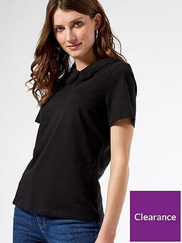 dorothy-perkins-collar-detail-t-shirt-black