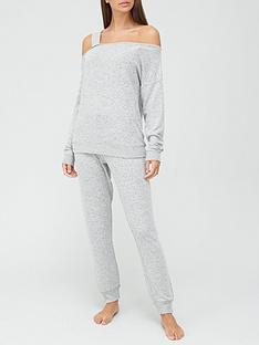 v-by-very-off-the-shoulder-lounge-set-grey-marl