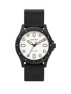 skagen-fisk-white-dial-black-strap-watch