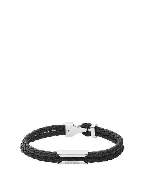 diesel-stackables-black-leather-bracelet