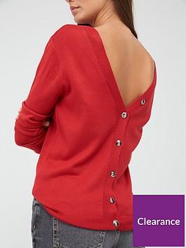 v-by-very-v-backnbspdiamante-button-jumper-red