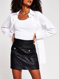 river-island-quilted-pu-mini-skirt-black