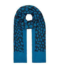 monsoon-animal-print-lightweight-border-scarf-blue