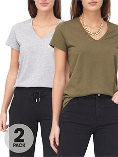 v-by-very-2-pack-basic-v-neck-t-shirts-khakigrey