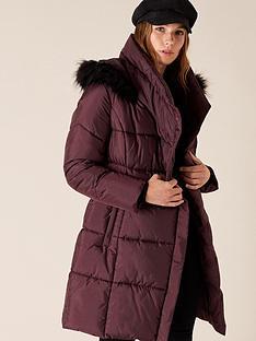monsoon-patsy-sustainable-long-padded-coat-chocolatenbsp