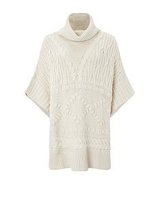monsoon-knitted-poncho-cream