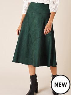 monsoon-suedette-sustainable-skirt-green