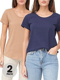 v-by-very-2-pack-basic-scoop-neck-t-shirt-navycamel