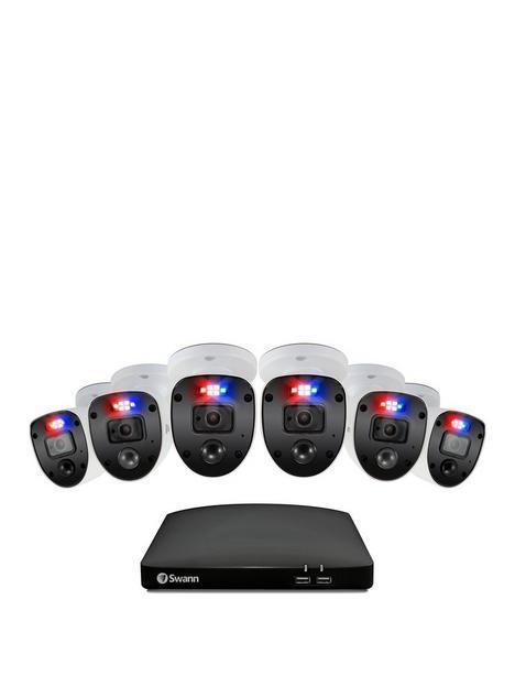 swann-smart-security-cctv-system-8-chl-1080p-1tb-hdd-dvr-6-x-pro-enforcer-camera-works-with-alexa-google-assistant-amp-swann-security-swdvk-846806sl-eu