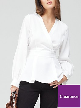 v-by-very-belted-peplum-blouse-whitenbsp