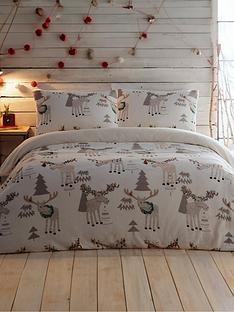 silentnight-christmas-moose-fleece-duvet-cover-set