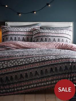 silentnight-nordic-stripe-fleece-duvet-cover-set