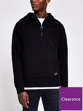river-island-slim-fit-zip-through-hoodie-blacknbsp