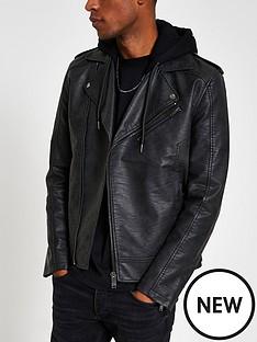 river-island-fenway-mottled-hooded-biker-jacket-black