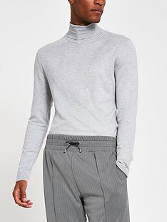 river-island-long-sleevenbspessential-roll-neck-grey-marl