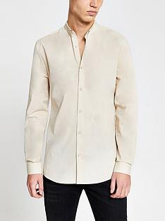 river-island-river-island-long-sleeved-muscle-fit-shirt