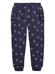 mini-v-by-very-girls-heart-print-single-jogger-navy