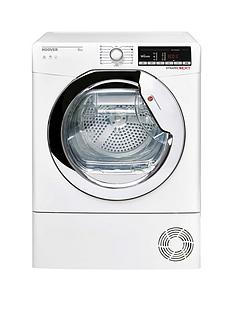 hoover-dynamic-next-dxoc9tce-9kg-loadnbspaquavision-condenser-tumble-dryer-with-one-touch-whitechrome