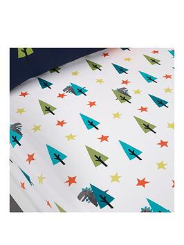 Product photograph showing Cosatto Dragon Kingdom Junior Fitted Sheet Twin Pack