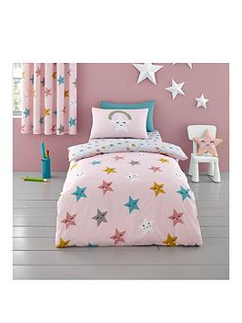 Product photograph showing Cosatto Happy Stars Junior Duvet Cover Set