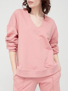 v-by-very-notch-neck-oversized-sweatshirt-pink