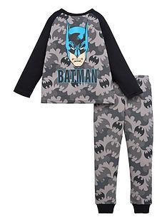 batman-boys-batman-camo-raglan-short-sleeve-pjs-grey