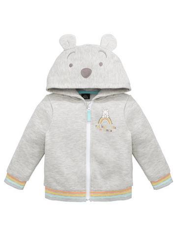 Disney hoodie jacket size 16 womens pink winnie the pooh christopher robin zip