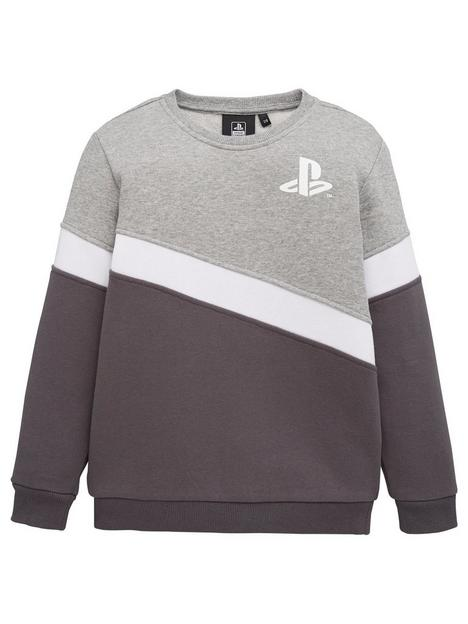 playstation-boysnbspcolour-block-sweatshirt-multi