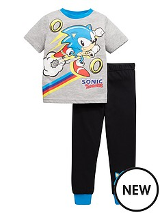 sonic-the-hedgehog-boys-short-sleeve-pjs-grey