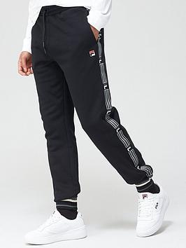 fila-danube-taped-side-pants-black