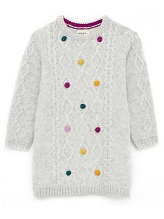 white-stuff-girls-cosy-cable-pom-jumper-dress-natural