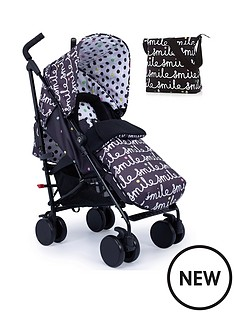 cosatto-supa-2-stroller-change-bag-and-footmuff-bundle--nbspall-smiles
