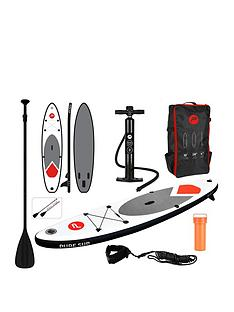pure-4-fun-pure-305-all-round-inflatable-stand-up-paddle-board-10-feet-complete-set-with-pump-patch-tool-foot-lead-adjustable-paddle-and-waterproof-2l-bag