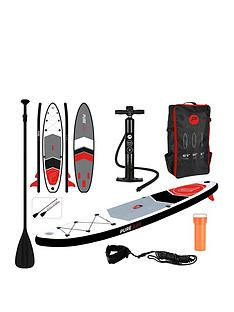 pure-4-fun-pure-320-all-round-inflatable-stand-up-paddle-board-105-feet--with-pump-patch-tool-foot-lead-adjustable-paddle-and-waterproof-2l-bag