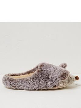 fatface-holly-hedgehog-slippers-grey