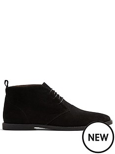 topman-spark-faux-suede-chukka-boots-black