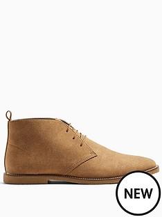 topman-spark-faux-suede-chukka-boots-tan