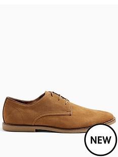 topman-spark-faux-suede-derby-shoes-tan